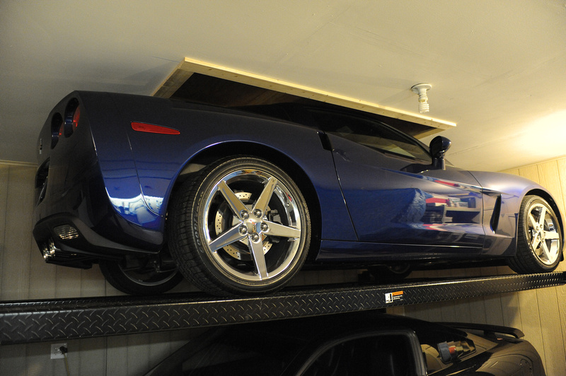 Diy 101 fitting a 2 car lift in a short garage lotustalk the solution to my parking problem corvette forum solutioingenieria Gallery